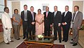 A 6-member delegation led by Mr. Shailesh Vara from Friends of India Group of the British Conservative Party of UK calls on the Speaker, Lok Sabha, Smt. Meira Kumar, in New Delhi on July 27, 2009.jpg