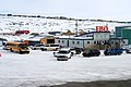 A School Bus Joins the Motorcade as Secretary Kerry and His Staff Arrive in Iqaluit, Canada.jpg