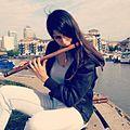 A bansuri player Jaspreet, flute classical Indian music instrument.jpg