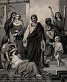 A biblical character surrounded by people in states of madne Wellcome V0034933.jpg