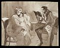 A father reading a novel with an affecting plot to family. Wellcome L0040392.jpg