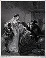 A lavishly dressed lady accompanied by her black servant is Wellcome V0025919.jpg