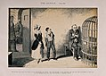 A maniacal man is visited in prison by his children, all rui Wellcome V0019408.jpg