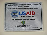 A plaque at the Kon Ray School highlights support from the American people. (5686007333).jpg