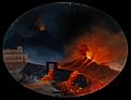 A volcanic eruption in Herculaneum (?), showing the advance Wellcome V0025249.jpg