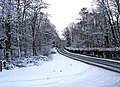 A winter landscape on the B4194 road at Hawkbatch on its way to Bewdley - geograph.org.uk - 1655224.jpg