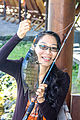 A woman fishing at West Lake Restaurant, Yogyakarta.jpg