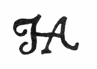 Hendrik Abbé - scanned copy of one of the styles of Hendrik Abbé's signature