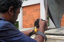 Abdullah Al Durrani Sony taking photo on Wikipedia Photowalk at University of Chittagong (04).jpg