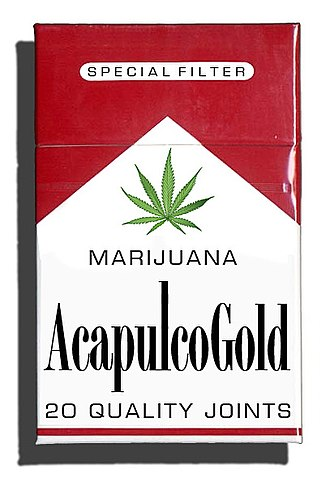 Acapulco Gold - A mockup of a pack of Acapulco Gold cigarettes