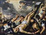 Accademia - Crucifixion of St. Peter by Luca Giordano.jpg