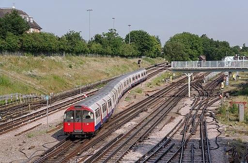 Acton Town tube station MMB 17 1973 Stock