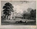 Addenbrooke's hospital and grounds, Cambridge. Lithograph by Wellcome V0012310.jpg
