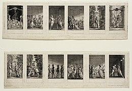 Daniel Chodowiecki: Szenen Adelheid von Veltheim (Quelle: Wikimedia)