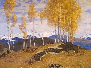 Adrian Scott Stokes - Image: Adrian Stokes Autumn in the Mountains