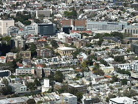 Aerial view of Darlinghurst, New South Wales
