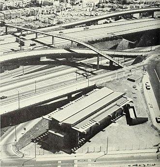Glen Park station - Glen Park station under construction in 1970