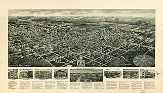 Egg Harbor City, New Jersey - Panoramic map of Egg City Harbor from 1924 with list of landmarks, inset images of several, and a depiction of the area in 1855