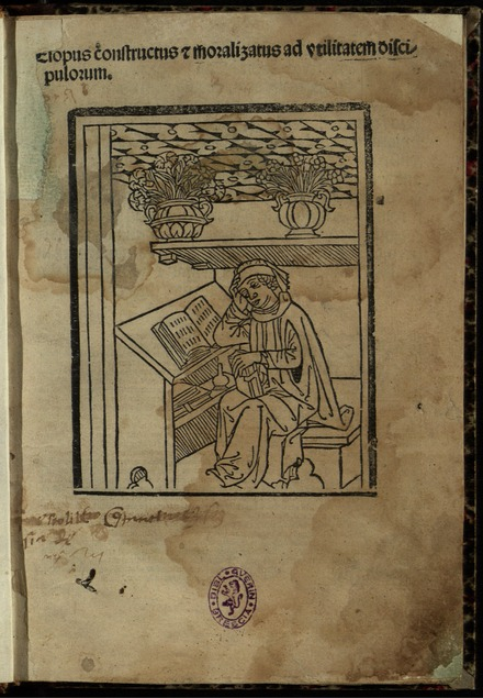 Aesopus constructus etc., 1495 edition with metrical version of Fabulae Lib. I-IV by Anonymus Neveleti Aesopus - Aesopus constructus, 1495.tiff