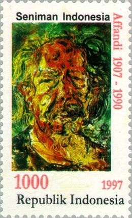 Affandi 1997 Indonesia stamp.jpg