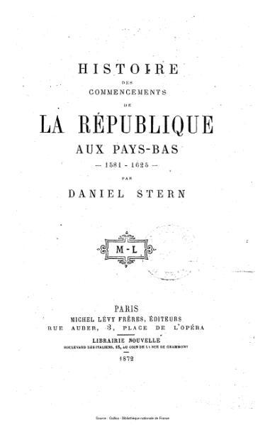 File:Agoult - Histoire des commencements de la république des Pays-Bas - 1581-1625.djvu