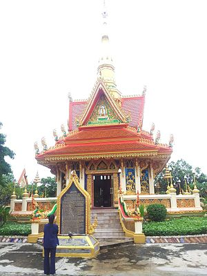 History of the Thai Forest Tradition - A memorial to Ajahn Mun at Wat Liap in Ubon Ratchatani, Thailand, the monastery where Ajahn Mun first learned kammatthana meditation from Ajahn Sao.