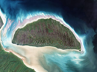 Akimiski Island Migratory Bird Sanctuary - Landsat image of Akimiski Island
