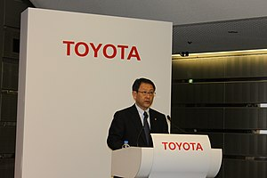 Toyota - Akio Toyoda, CEO of Toyota, at the annual results press conference, May 11, 2011