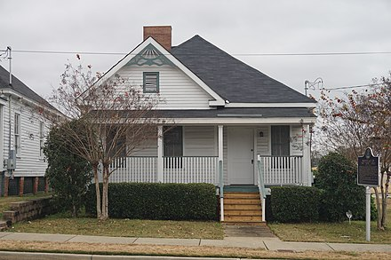 "Nat ""King"" Cole Birthplace on the campus of Alabama State University in Montgomery Alabama State University December 2018 28 (Nat ""King"" Cole Birthplace).jpg"