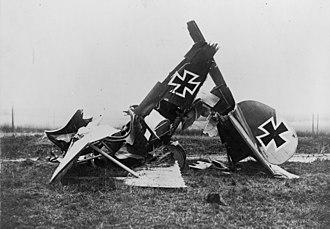 Albatros D.III - An Albatros DIII wreck Flanders 1917