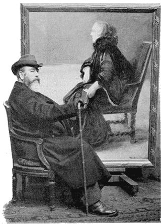 Paul-Albert Besnard - Albert Besnard in front of a portrait of his wife (1905)