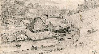 Oversvømmelsen av Tobiesens Teglverk ved Akerselva