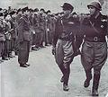 Alessandro Pavolini e Vincenzo Costa passano in rassegna gli squadristi delle Brigate bere della Resega estate 1944.jpg