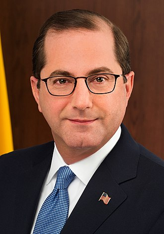 United States Secretary of Health and Human Services - Image: Alex Azar official portrait (cropped)