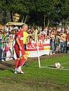 Alexander Farnerud under en match för VfB Stuttgart.