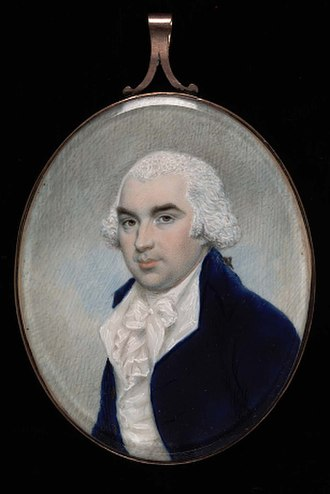 Alexander Robertson (artist) - Dr. William Beekman, ca. 1795, watercolor on ivory sight 2 7/8 x 2 3/8 in. (7.3 x 5.9 cm) oval Smithsonian American Art Museum