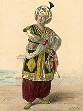 Nach Alexandre-Marie Colin: Adolphe Nourrit als Tarare (1823) (Quelle: Wikimedia)