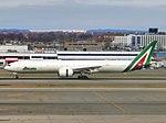 Alitalia Boeing 777-3Q8(ER) EI-WLA landing at JFK Airport.jpg
