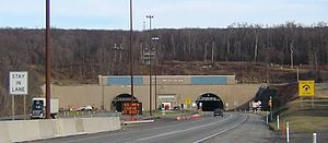 Interstate 76 (Ohio–New Jersey) - I-76 at the Allegheny Mountain Tunnel