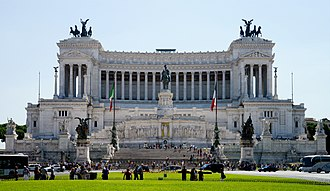 Italy - The Altare della Patria in Rome, built in honor of Victor Emmanuel, the first king of a unified Italy