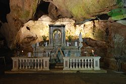 The Altar of St Michael the Archangel, in the grotto named after him