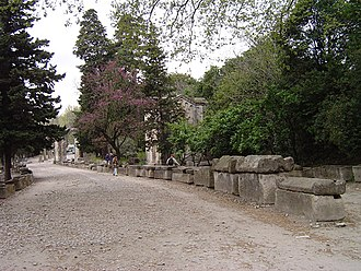Alyscamps - A road in the Alyscamps