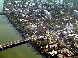 Aerial View o the Sabarmati riverfront