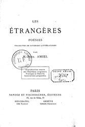 Henri-Frédéric Amiel: Les Étrangères