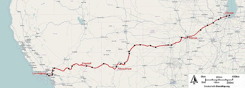 Southwest Chief Wikipedia - Southwest flight map us