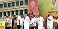 Ananth Kumar along with the Chief Minister of Karnataka, Shri Siddaramaiah at the International Yoga Day function, organised by the Department of AYUSH, Government of Karnataka, at the premises of Vidhana Soudha, Bengaluru.jpg