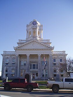 Anderson County Courthouse in Lawrenceburg