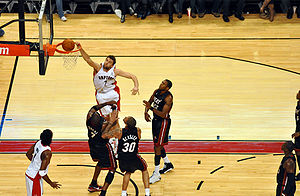 Sport in Italy - The Italian standout player, Andrea Bargnani, played with the Toronto Raptors in the NBA.