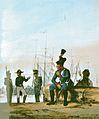 Angehörige der österreichischen Marine um 1840 Marine-Matrosenkorps, Marineinfanterie und Marineartillerie. Zeitgenössische Darstellung.jpg