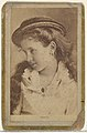Angela, from the Actresses and Celebrities series (N60, Type 2) promoting Little Beauties Cigarettes for Allen & Ginter brand tobacco products MET DP839453.jpg